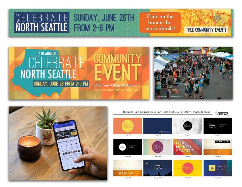 Celebrate North Seattle Block Party Brand Board